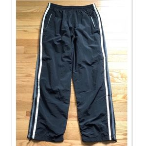 Express Black Striped Lined Athletic Pants Size Sm
